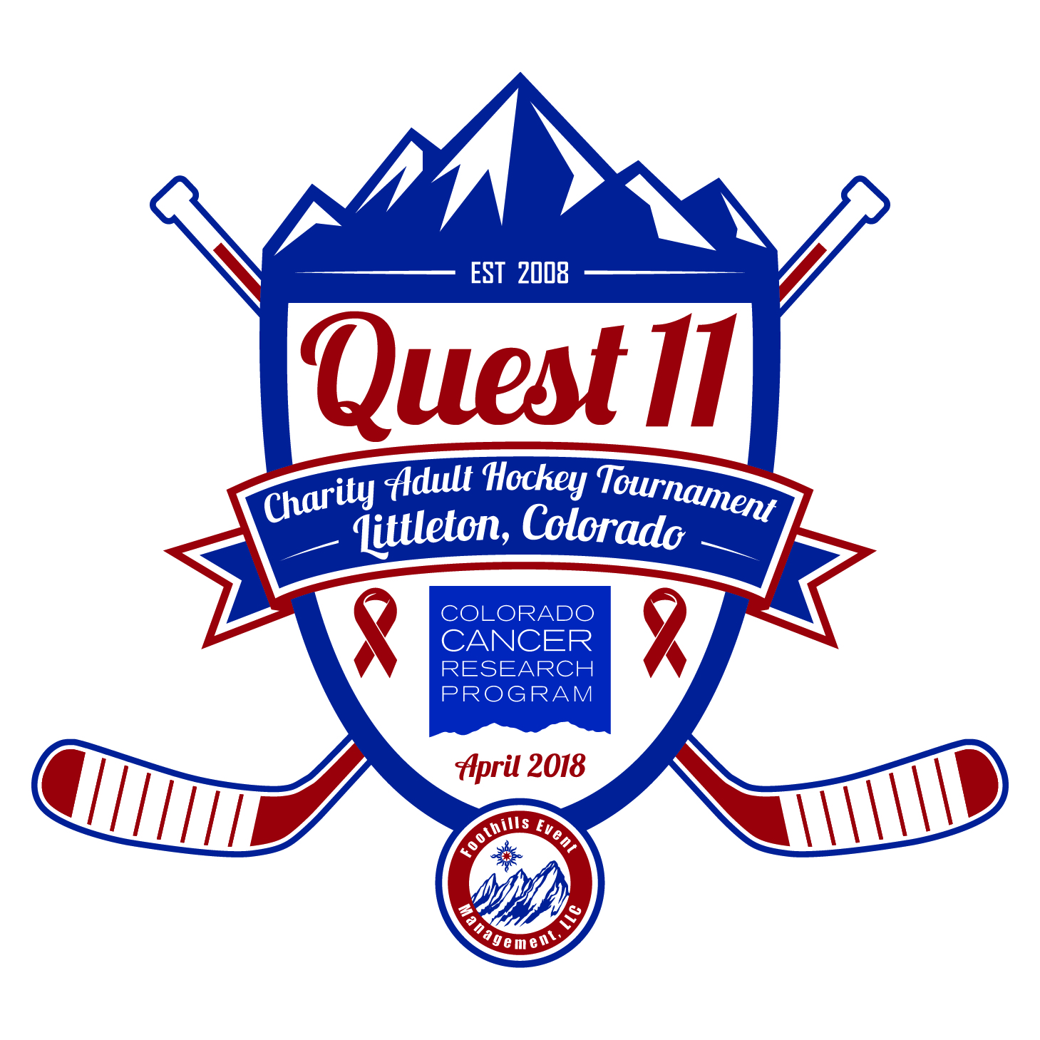 2016 Quest 9 - Charity Adult Hockey Tournament - Logo - FEM Website - Color